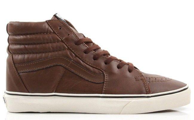 New! VANS SK8 HI Mens Size 6.5 Shoe BROWN AGED LEATHER