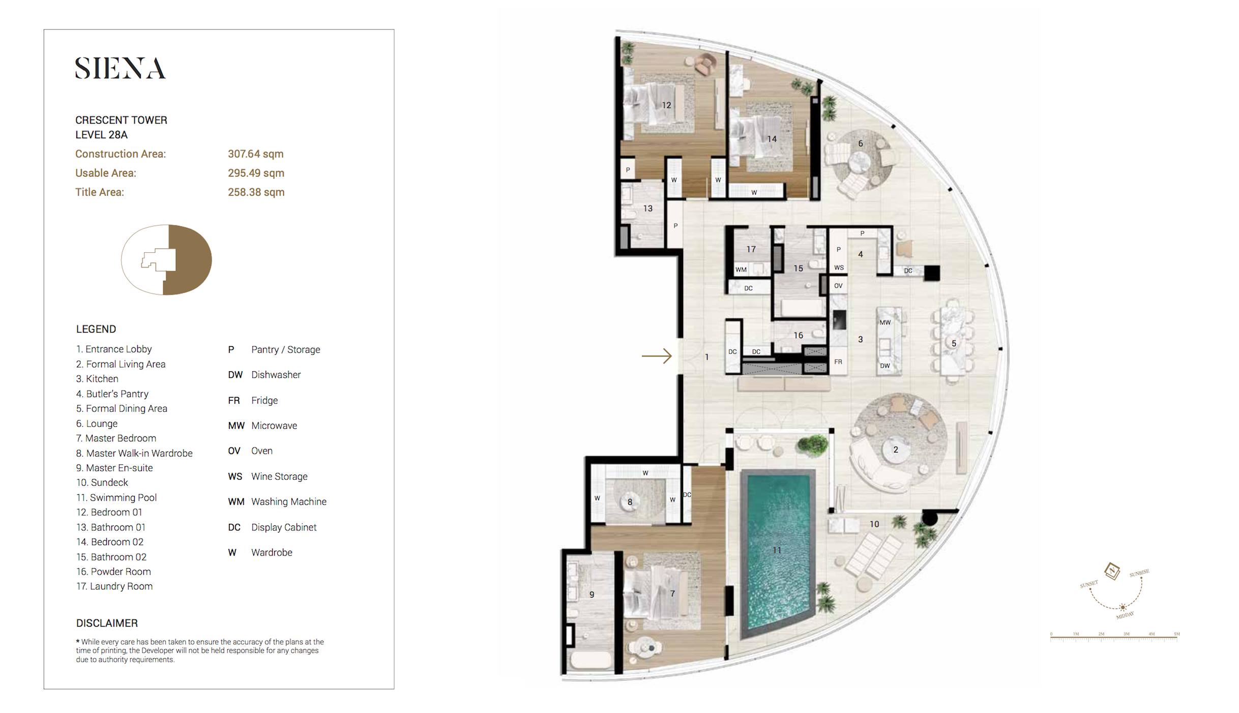 Penthouse City Garden Unit Siena L28a Crescent Tower Plan Condo Luxury Penthouse Floor Plan Design