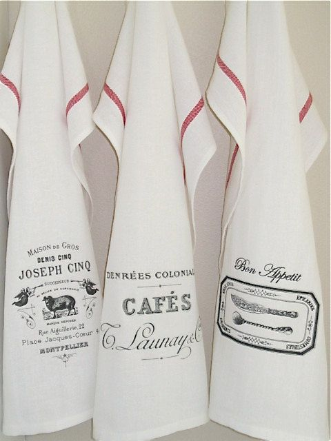 French kitchen tea towels set of 3 by McClisterDesigns on Etsy ... on french dish drainer, french dish plates, french hand towels, french towels made in france, japanese towels, french corkscrew, french beach towels, french utensils, french mittens, sentiment bistro towels, french cutting boards, french bistro towels, french flour sack towels, french country towels, french dish drying rack, french sugar, french chef towels, french knives, french bath towels, french blue towels,