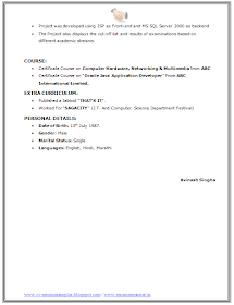 Over 10000 Cv And Resume Samples With Free Download Bsc It Resume Sample Resume Format Resume Sample Resume