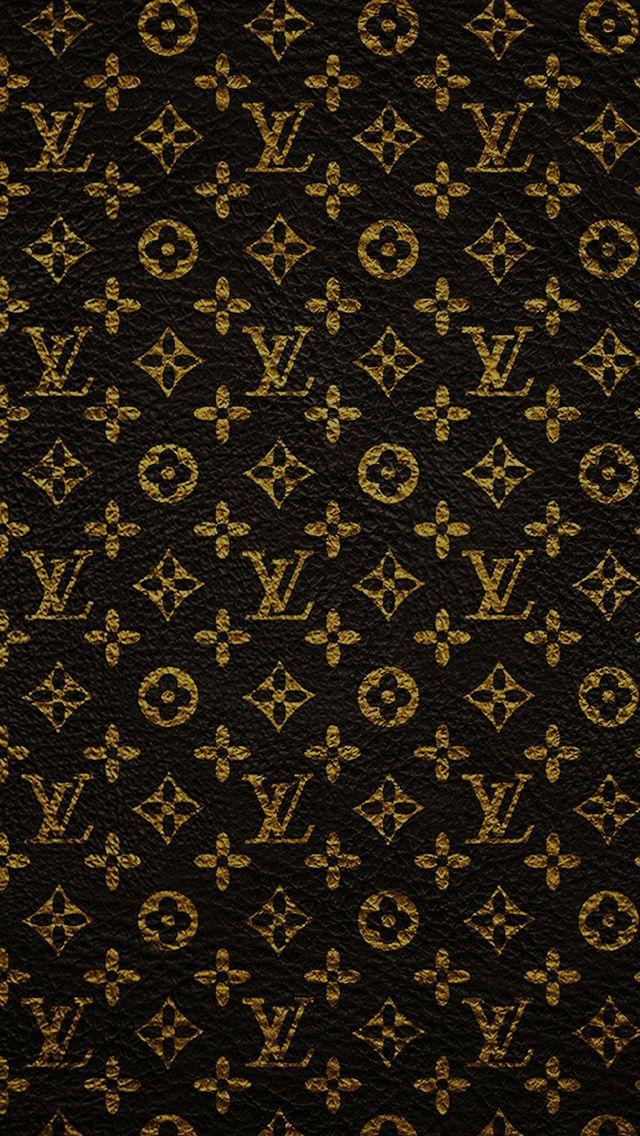 Louis Vuitton Dark Pattern Art iPhone Wallpapers