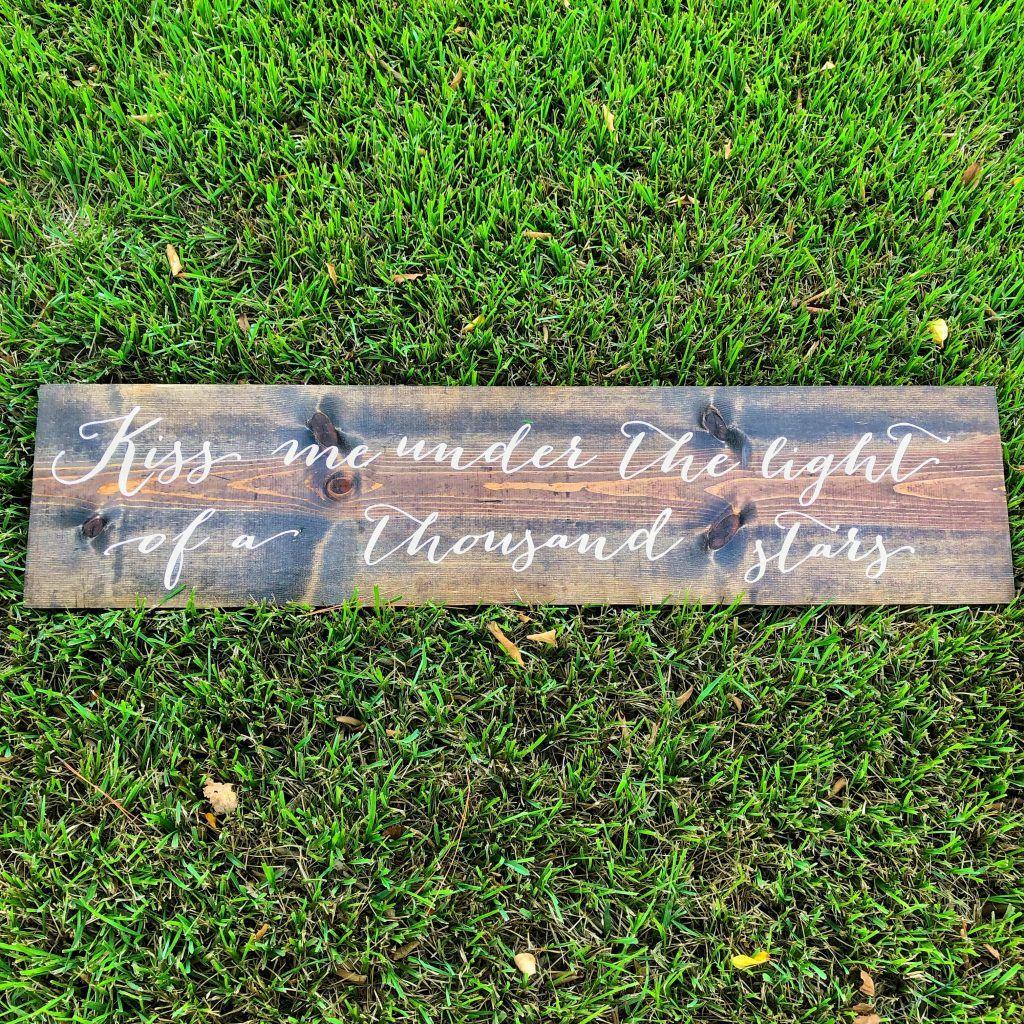 Lyric Stenciled Wooden Sign Wooden Signs Cricut Vinyl Espresso Wood Stain