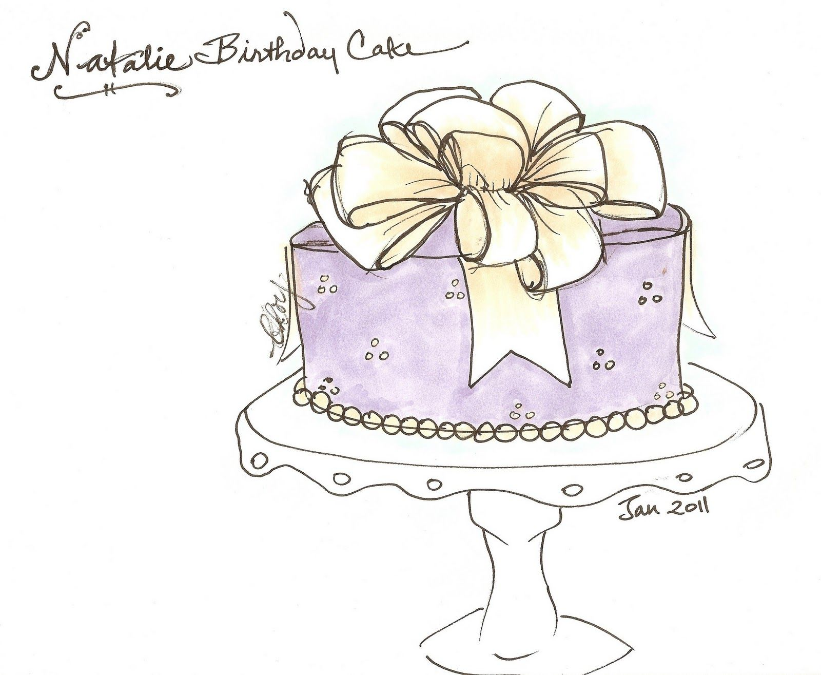 Pin By Kristi Oltman On Postres Cake Drawing Diary Decoration Cake Sketch