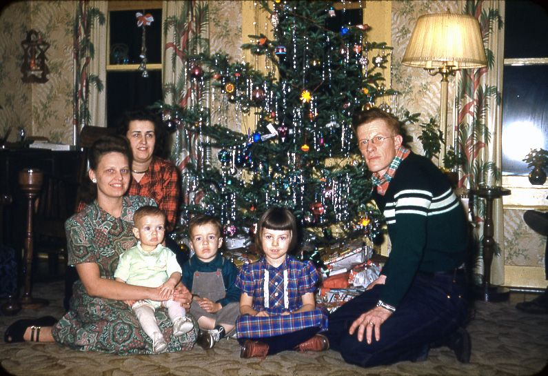Christmas 1951 On The Hansen Farm In Champaign County, Ill