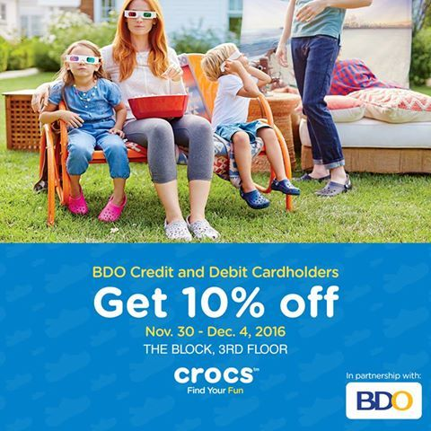 beb58df6c5279a ... City pick  Check out CROCS OPENING SALE at SM North EDSA The Block! Get  10% OFF ...