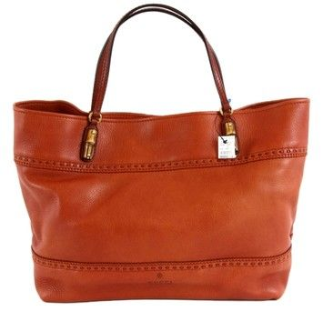 Gucci Laidback Crafty Leather Bag 339000 Dark Rust Orange Tote Get One Of The Hottest Styles Season