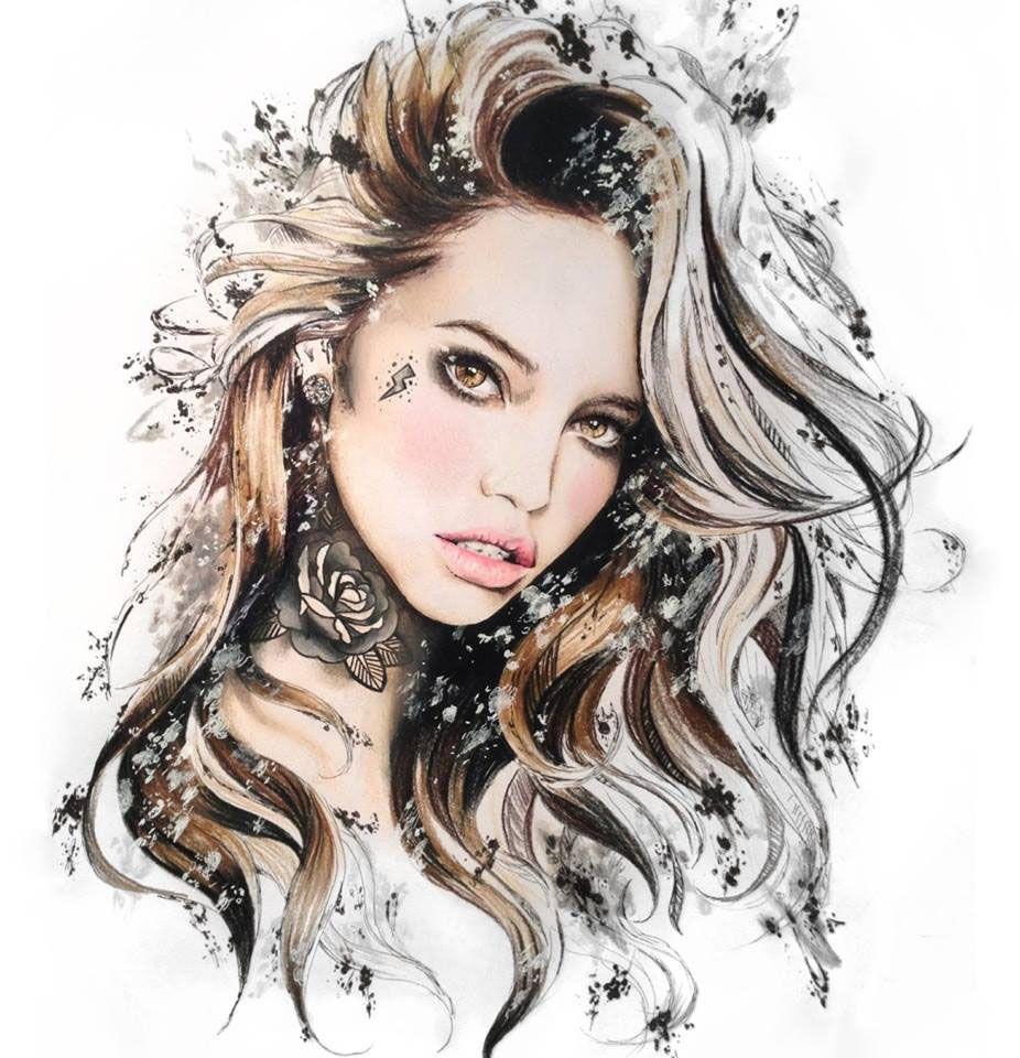 Красивая женщина рисунки картинки