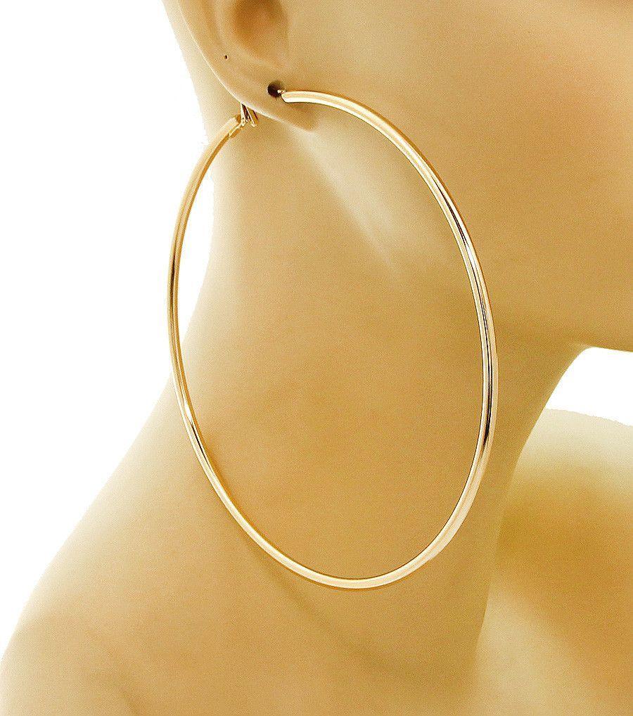 Smooth Gold Hoop Earrings