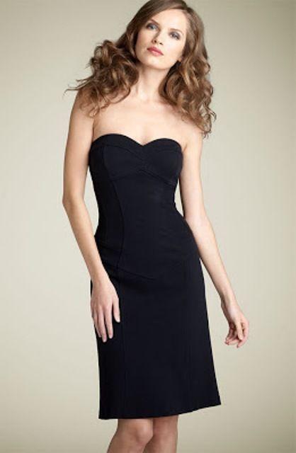 Dvf Diane Von Furstenberg Strapless Olsen Knit Dress In Black Sz 2 Sheath