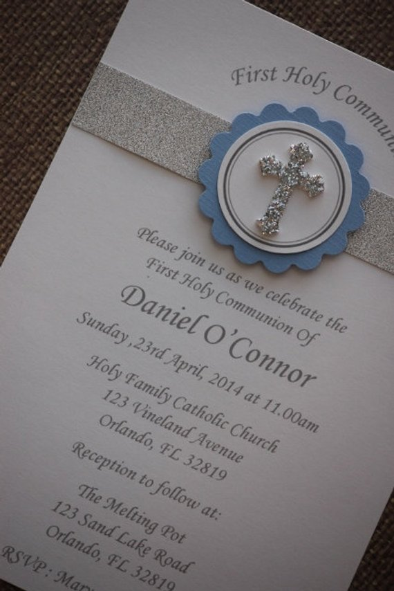 50x First Holy Communion Baptism Invitations With Envelope