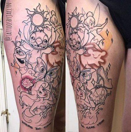 New Tattoo Leg Disney Ideas