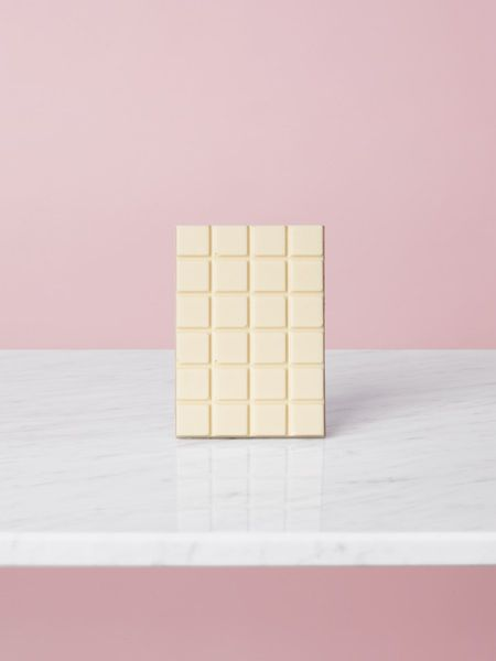 White Chocolate Marble Table Pink Background