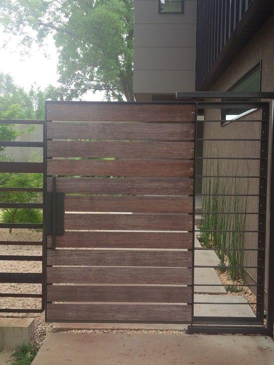 Cool Wooden Gates Design Ideas for Exterior Design: Cool Modern ...