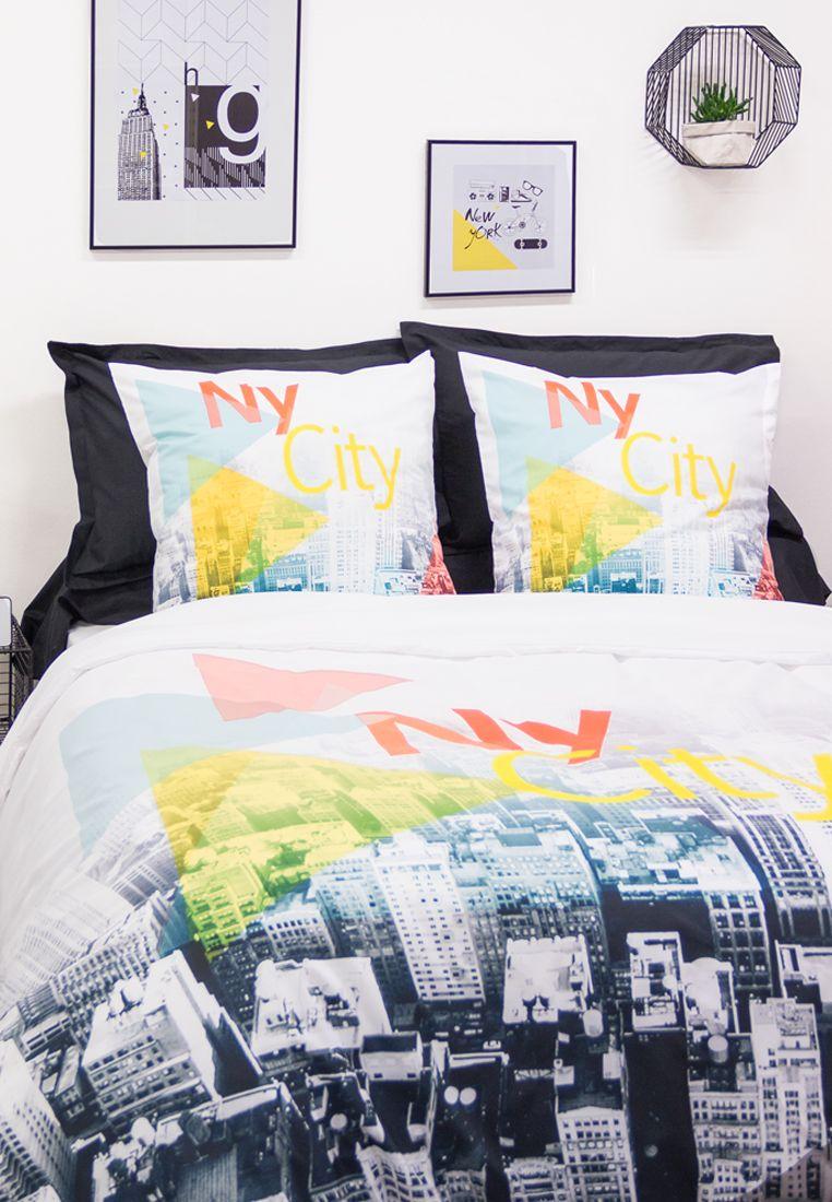 New York Parure De Lit 2 Personnes 240x220 Cm Chambre City Linge De Lit Lit Et Parure De Lit