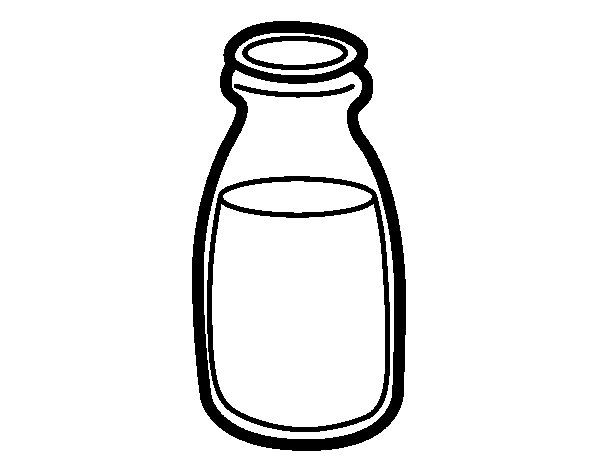Milk Coloring Page Milk Coloring Pages Milk Bottle