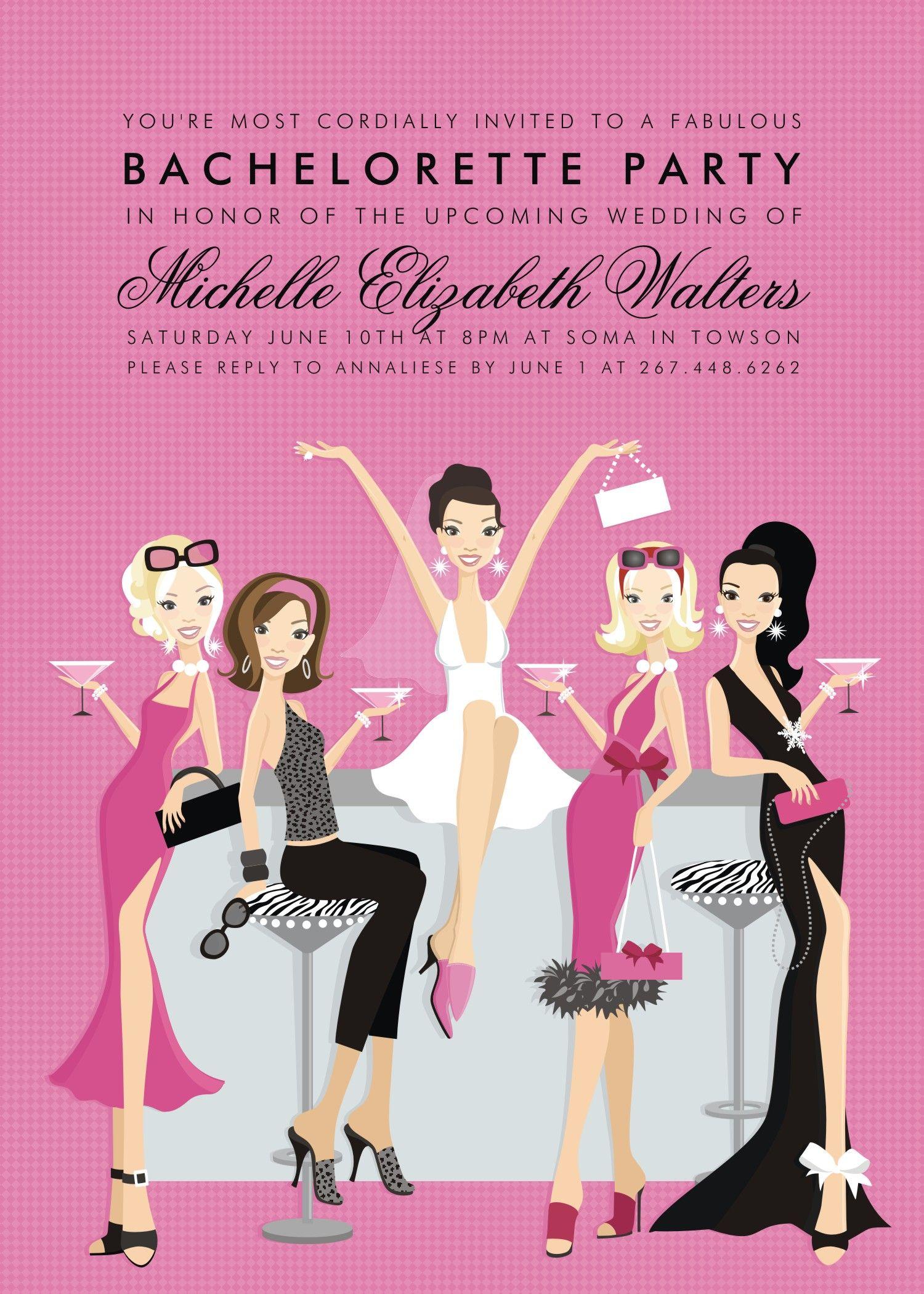 bachelorette party invitation by Doc Milo Boda WG – Free Bachelorette Party Invitation Templates