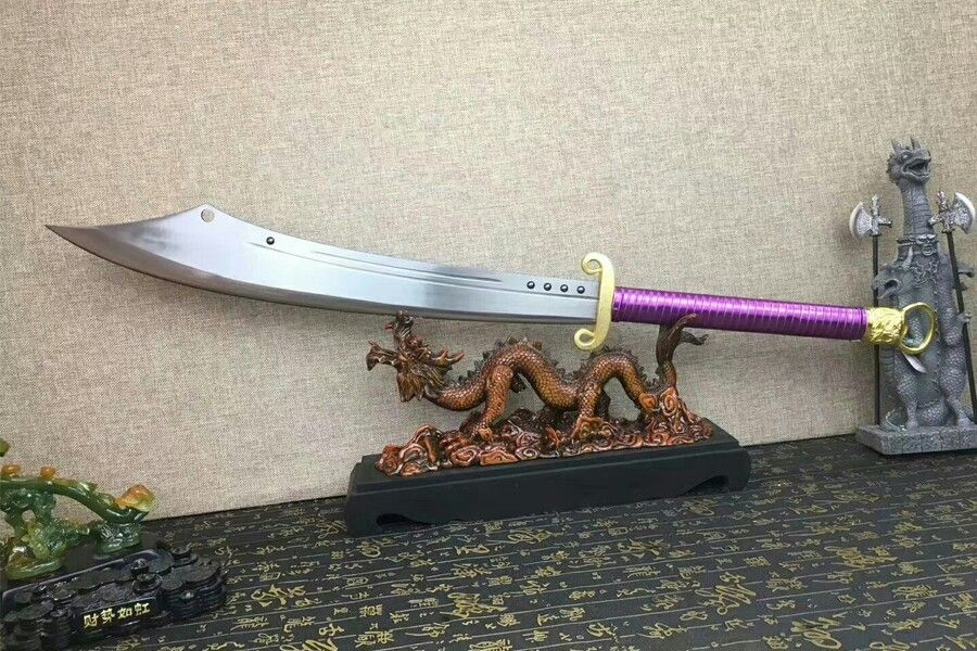 Chinese Broadswords 1095 High Carbon Steel Full Tang Sharp Blade Leather Sheath For Sale Features Chinese Broadsword Broad Sword High Carbon Steel