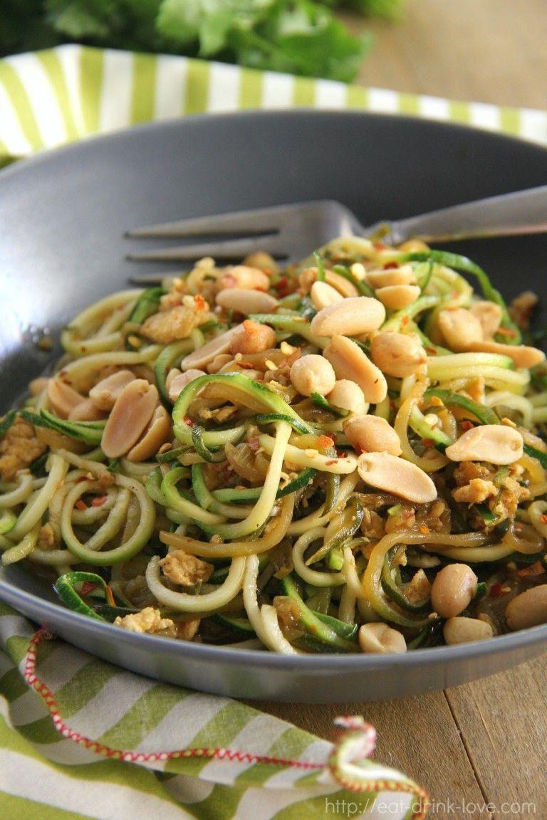 zucchini pad thai  recipes vegetable recipes zucchini