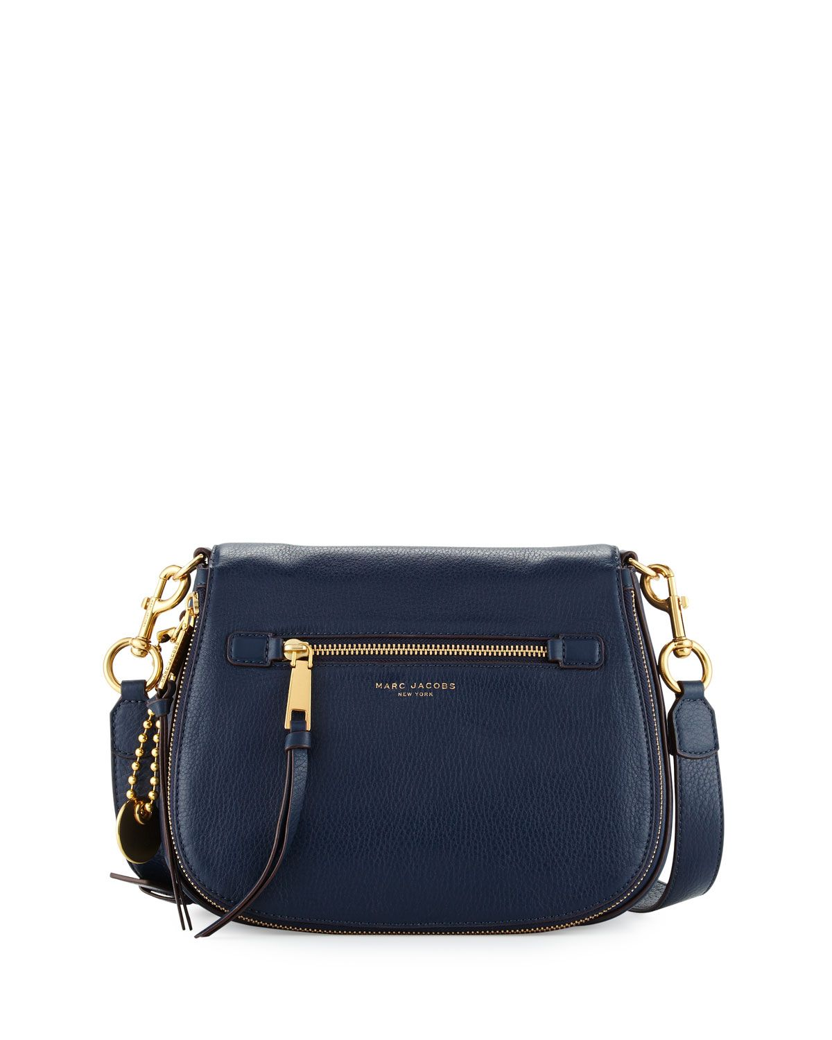 Recruit Leather Saddle Bag, Navy - Marc Jacobs    Handbags, Wallets ... a725133d0f