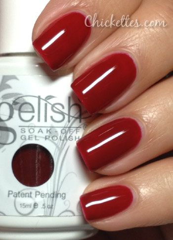 Gelish Lady In Red Swatch Year Of The Snake Collection Shellac Nails