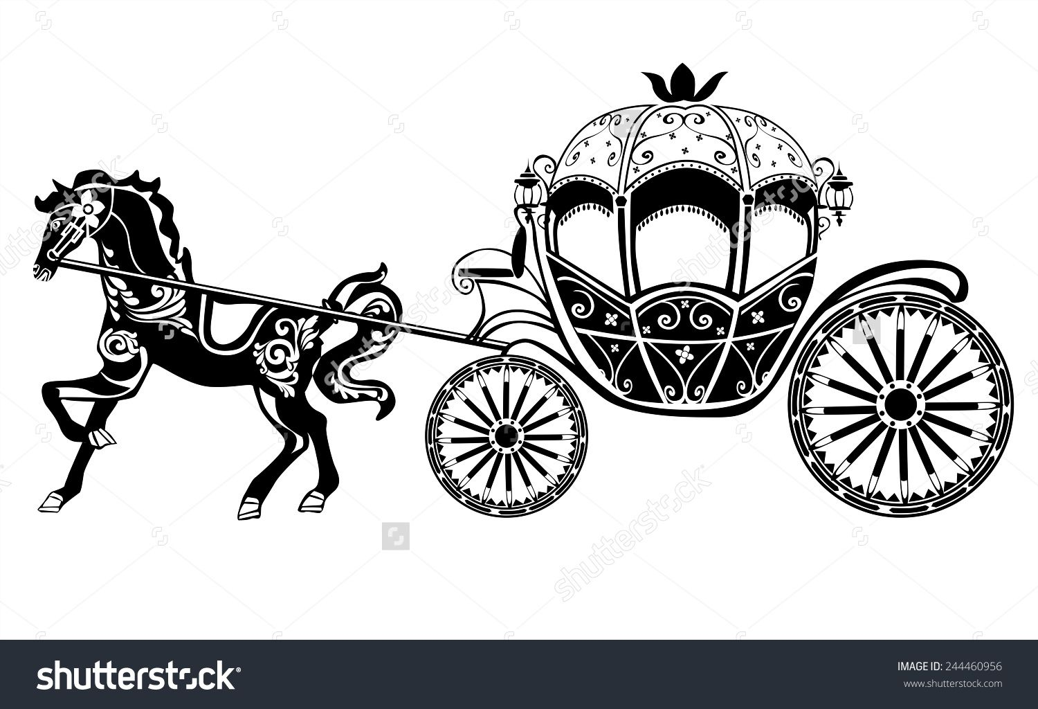 Carriage Stock Photos Images Pictures Horse Carriage Horses Stock Vector