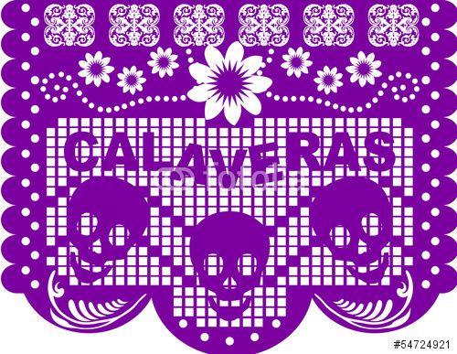 Papel Picado Dia De Muertos Imagenes De Archivo Y Vectores Libres De Derechos En Fotolia Com Imagen 54724 Papel Picado Dia De Muertos Dibujo Dia De Muertos