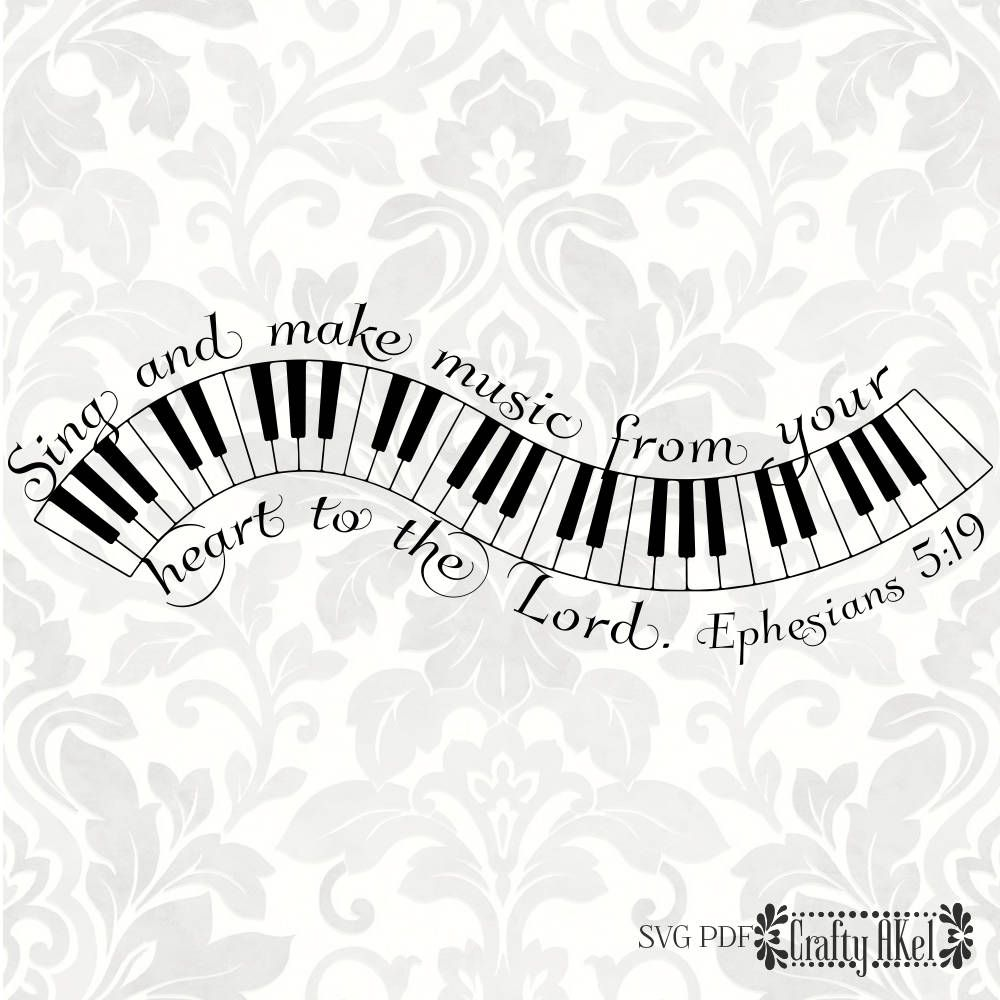 Ephesians 5 19 Svg Sing And Make Music From Your Heart To The Lord Svg Pdf Digital File Vector Graphic Ephesians Scripture Coloring Svg