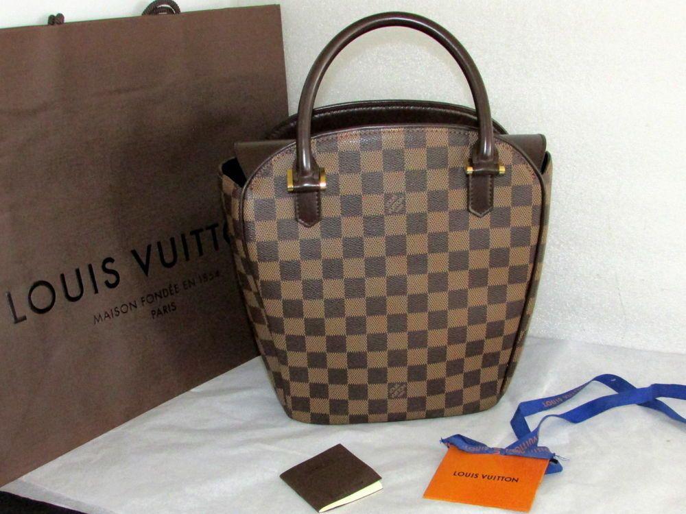 LOUIS VUITTON Damier Ebene Sarria Seau Satchel Tote Handbag ... 1e1aa4ca69