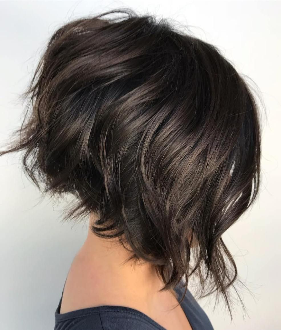 50 Haircuts For Thick Wavy Hair To Shape And Alleviate Your Beautiful Mane In 2020 Thick Wavy Hair Thick Hair Styles Brunette Bob Haircut
