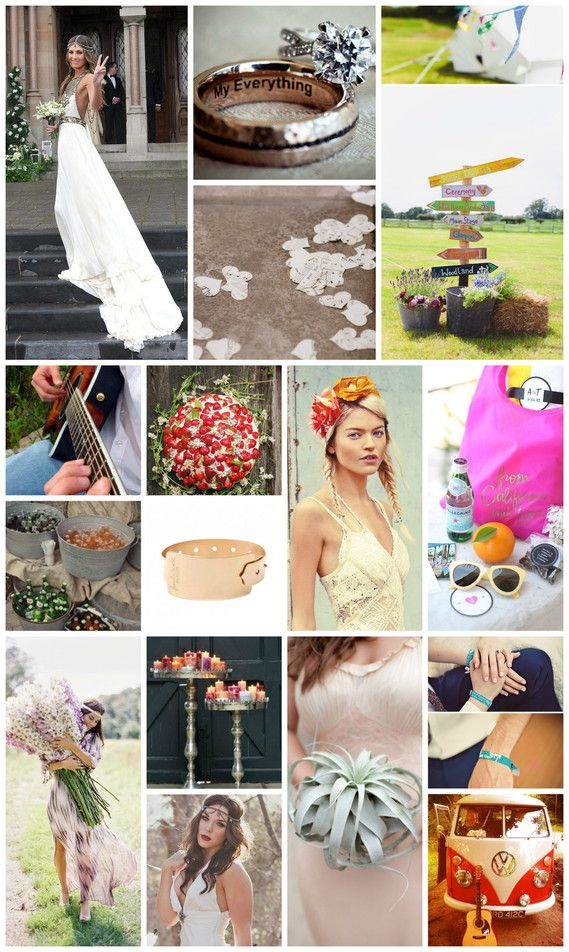 Wedding mood board inspired by the Coachella Festival weekends  Braut Concierge