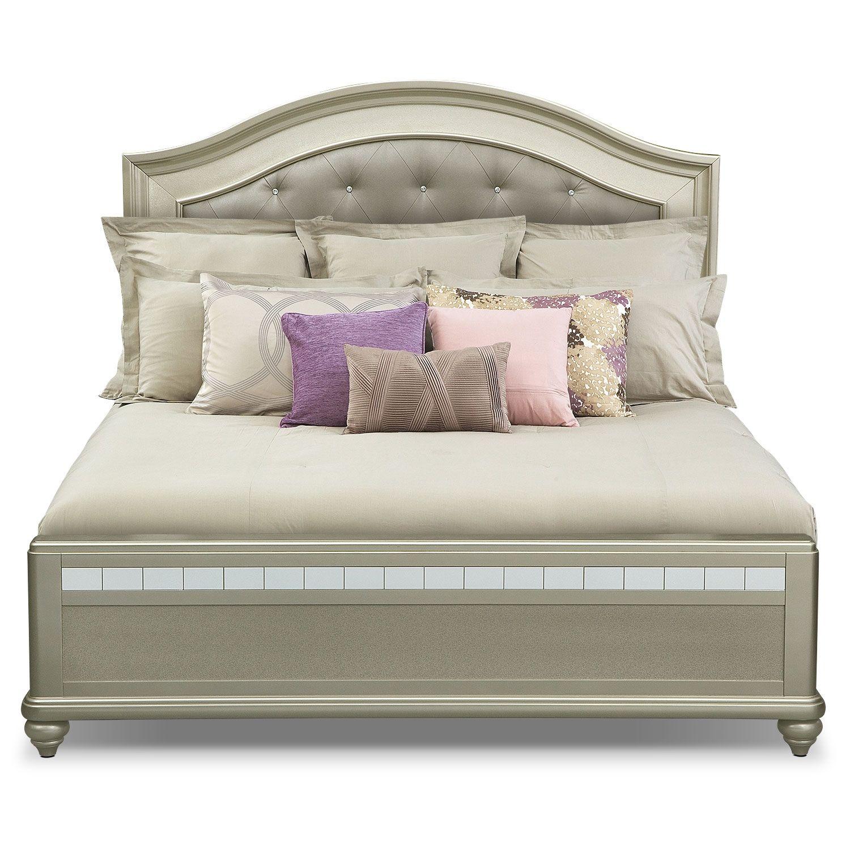 Best Serena Queen Bed Value City Furniture Value City 400 x 300