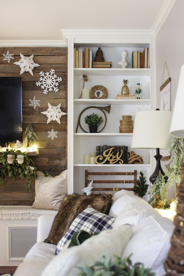 Christmas Styled Bookcase