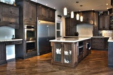 Weathered Slate Stunner Traditional Kitchen Cabinets Edmonton Kitchen Craft Edmonton