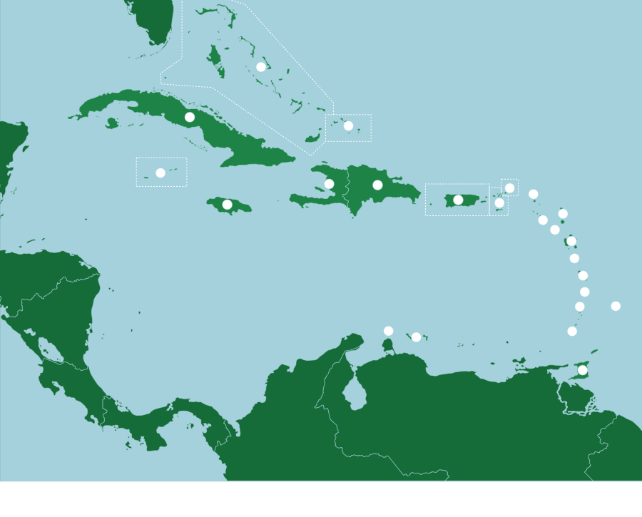 The caribbean countries map quiz game with a population of only the caribbean countries map quiz game with a population of only 5000 and gumiabroncs Choice Image