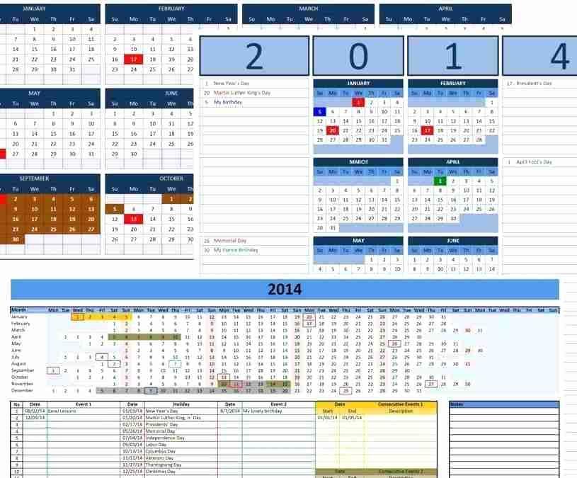 Excel Calendar Template 2014 Custom Calendar Templates For News To