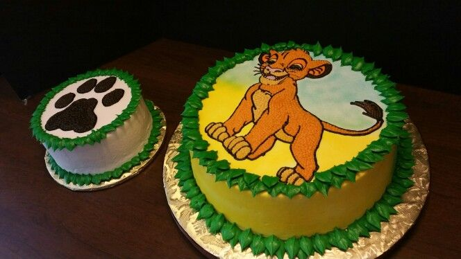 Lion King And Smash Cake With Images Lion King Cakes Lion