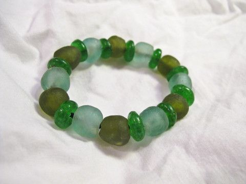 Recycled Glass Bracelet that funds community development programs in Africa #charity #nonprofit #philanthropy #recycled #bracelet #jewelry