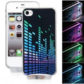 Flash Calling Warned LED Flash Back Case Cover for iPhone 4 4S Color Changed $7.99