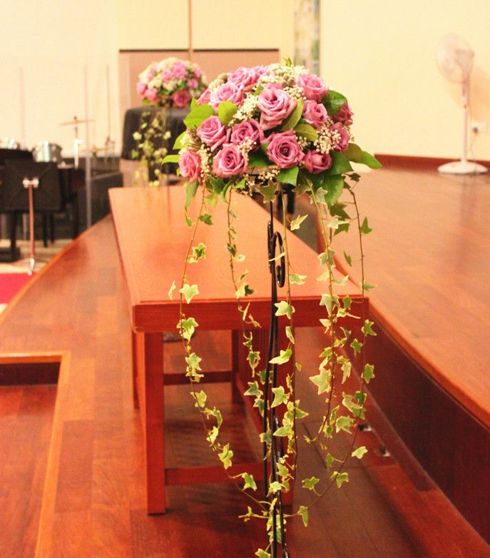 Wedding Altar Meaning: Floral Pedestals Decoration