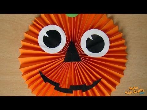 YouTube Hallowen Pinterest Paper pumpkin, DIY Halloween and - how to make halloween decorations youtube