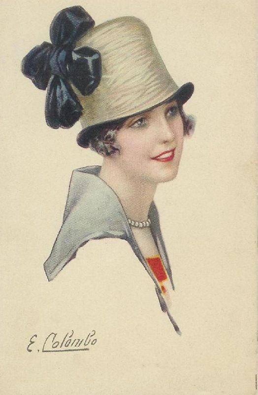 Vintage postcard (ill. by E. Colombo)