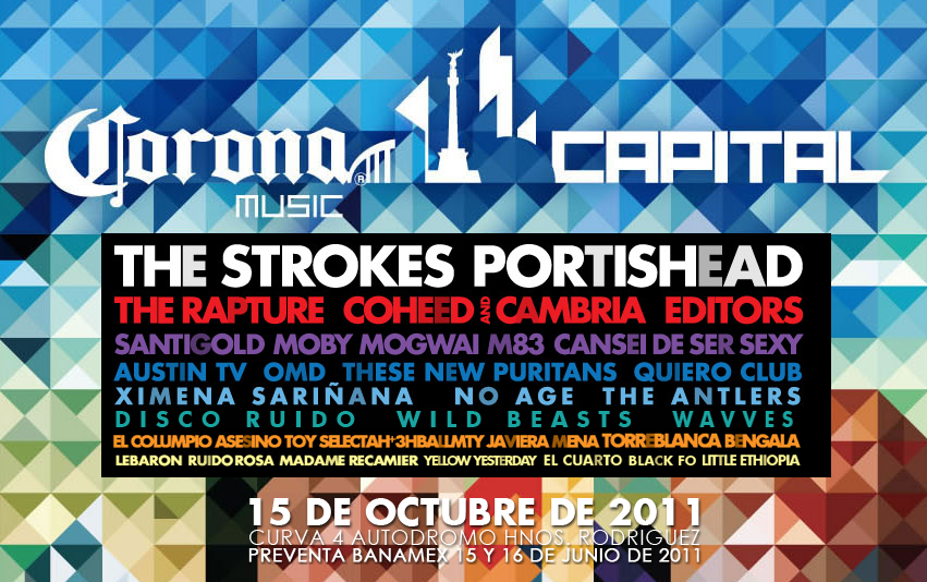 Corona Capital Festival Poster Coheed And Cambria Festival Posters Ximena Sarinana