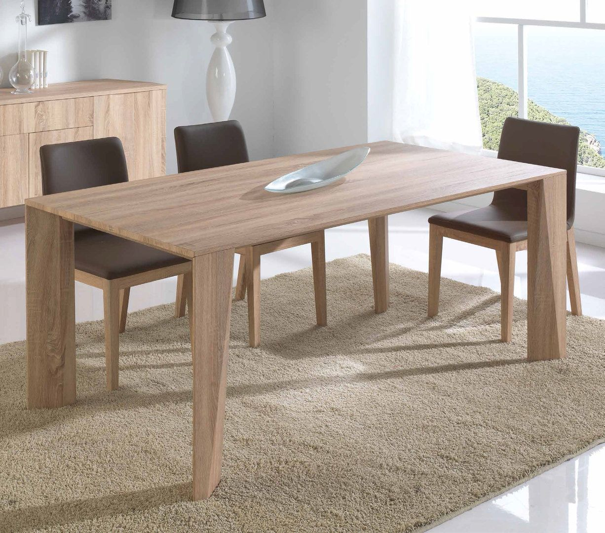 Mesa de comedor moderna london muebles interiordesign - Mesas salon extensibles modernas ...
