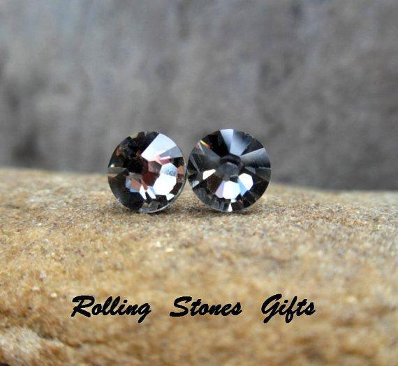 Black Diamond 7 27mm Swarovski Flat Back Rhinestone By Rostone 3 95