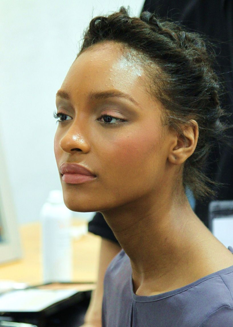 Lightened Brows And Coral Eyes Makeup For Black Womendark Skin