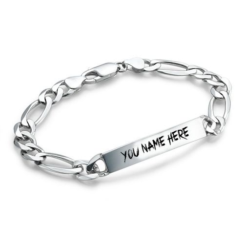Write Your Name On Sterling Silver Mens Bracelets