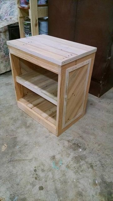 Wooden Pallet Bedside Table With New Ideas Photo Diy