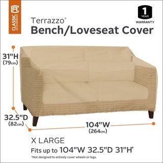 Classic Accessories Terrazzo Patio Bench Loveseat Cover All