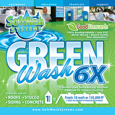 Best Green Wash 6X Soft Washing Solution Additive For Organic Staining Wash Green 400 x 300