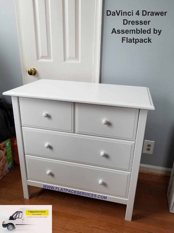 DaVinci Autumn 4 Drawer Changer Dresser in White M4355W
